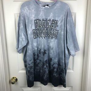 Harley Davidson Gray Tie Dye Arkansas Tee Shirt